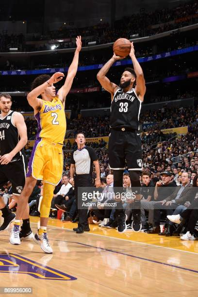 Allen Crabbe of the Brooklyn Nets shoots the ball against the Los Angeles Lakers on November 3 2017 at STAPLES Center in Los Angeles California NOTE...
