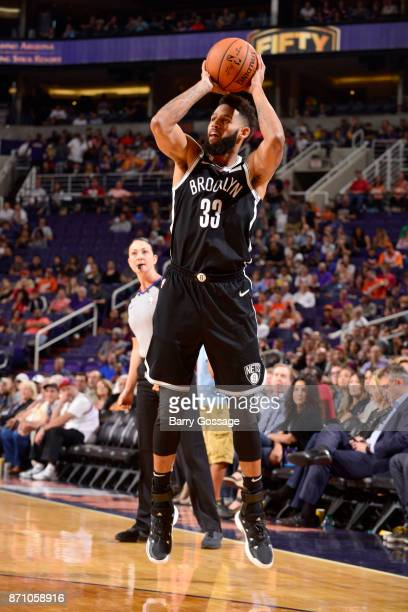 Allen Crabbe of the Brooklyn Nets shoots the ball against the Phoenix Suns on November 6 2017 at Talking Stick Resort Arena in Phoenix Arizona NOTE...