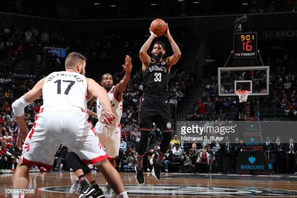 Allen Crabbe of the Brooklyn Nets shoots the ball against the Toronto Raptors on December 7 2018 at Barclays Center in Brooklyn New York NOTE TO USER...