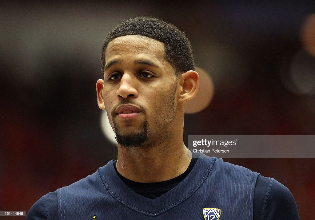 Allen Crabbe #23 of the California Golden Bears prepares to take a free throw shot against the Arizona Wildcats during the college basketball game at McKale Center on February 10, 2013 in Tucson, Arizona. The Golden Bears defeated the Wildcats 77-69.