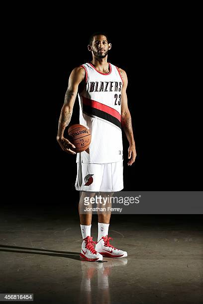 Allen Crabbe of the Portland Trail Blazers poses for a portrait during Media Day at the Moda Center on September 29 2014 in Portland Oregon NOTE TO...
