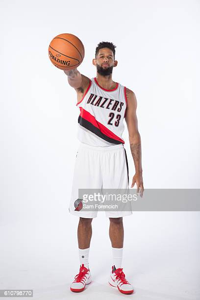 Allen Crabbe of the Portland Trail Blazers poses for a portrait during the 20162017 Portland Trail Blazer Media Day September 26 2016 at the Veterans...