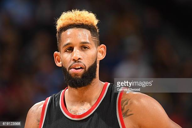 Allen Crabbe of the Portland Trail Blazersis seen Denver Nuggets on October 29 2016 at the Pepsi Center in Denver Colorado NOTE TO USER User...