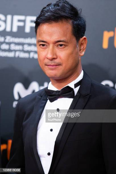 Brillante Mendoza during the 'Alpha The Right To Kill' Red Carpet at the 66th San Sebastian Film Festival in the northern Spanish Basque city of San...