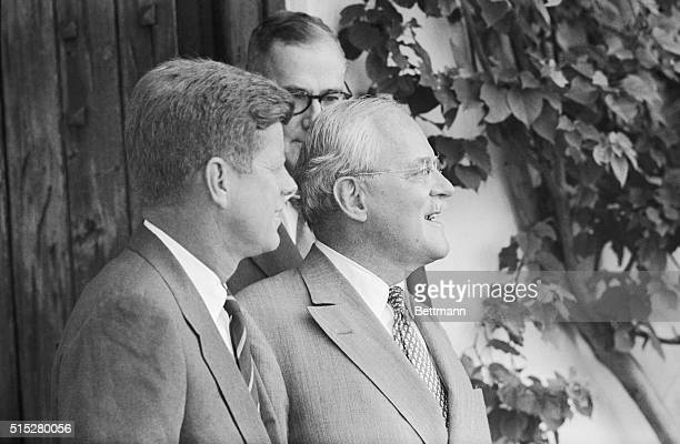 Allen Dulles director of the CIA paid a morninglong visit with the PresidentElect Senator John F Kennedy at the Kennedy Palm Beach home