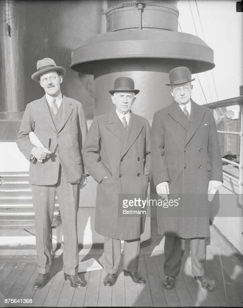 Allen Dulles Norman Davis and Arthur J Hepburn