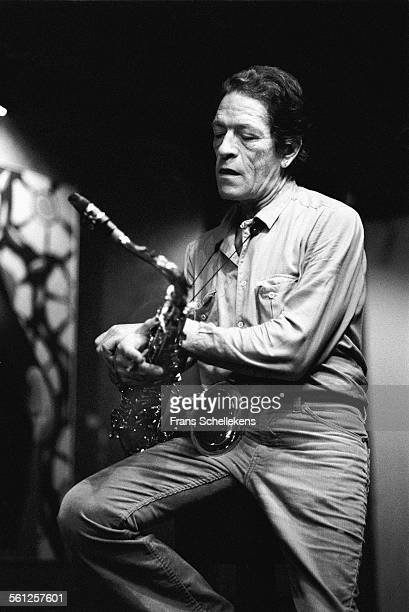 Allen Eager, tenor saxophone, performs on June 12th 1982 at the BIM Huis in the Amsterdam, Netherlands.