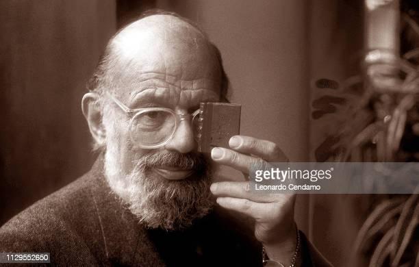 Allen Ginsberg, American, beat poet, portrait, Milan, Italy, 1996.