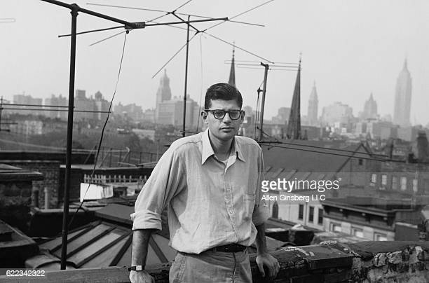 Allen Ginsberg New York City Fall 1953 Myself seen by William Burroughs my newbought Kodak Retina from Bowery hockshop in his hand our apartment roof...