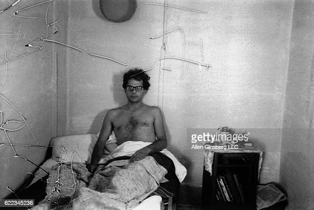 Allen Ginsberg Resting in Bed