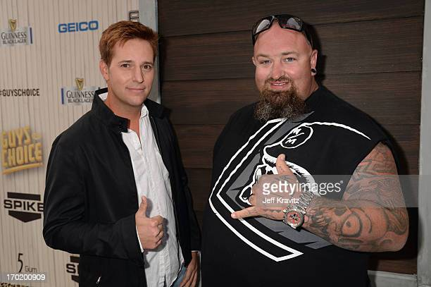 """Allen Haff and Clinton Jones attend Spike TV's """"Guys Choice 2013"""" at Sony Pictures Studios on June 8, 2013 in Culver City, California."""