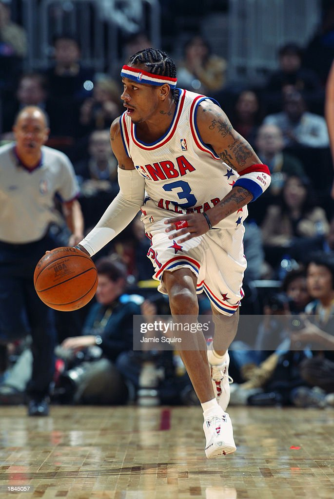 Allen Iverson Of The Eastern Conference All-stars Drives Upcourt At    News Photo
