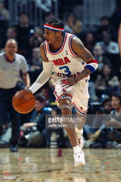 Allen Iverson Of The Eastern Conference All Stars Drives