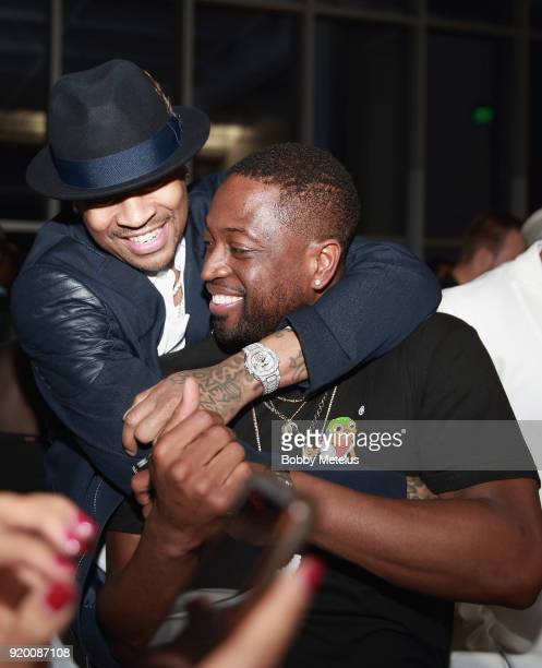 Allen Iverson and Dwyane Wade are seen at Stance Spades Tournament during NBA AllStar Weekend on February 18 2018 in Los Angeles California