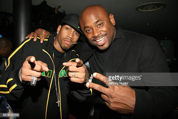 Allen Iverson and Steve Stoute during Reebok Presents Allen Iverson's 10 Years In The NBA Party at Canal Room in New York New York United States