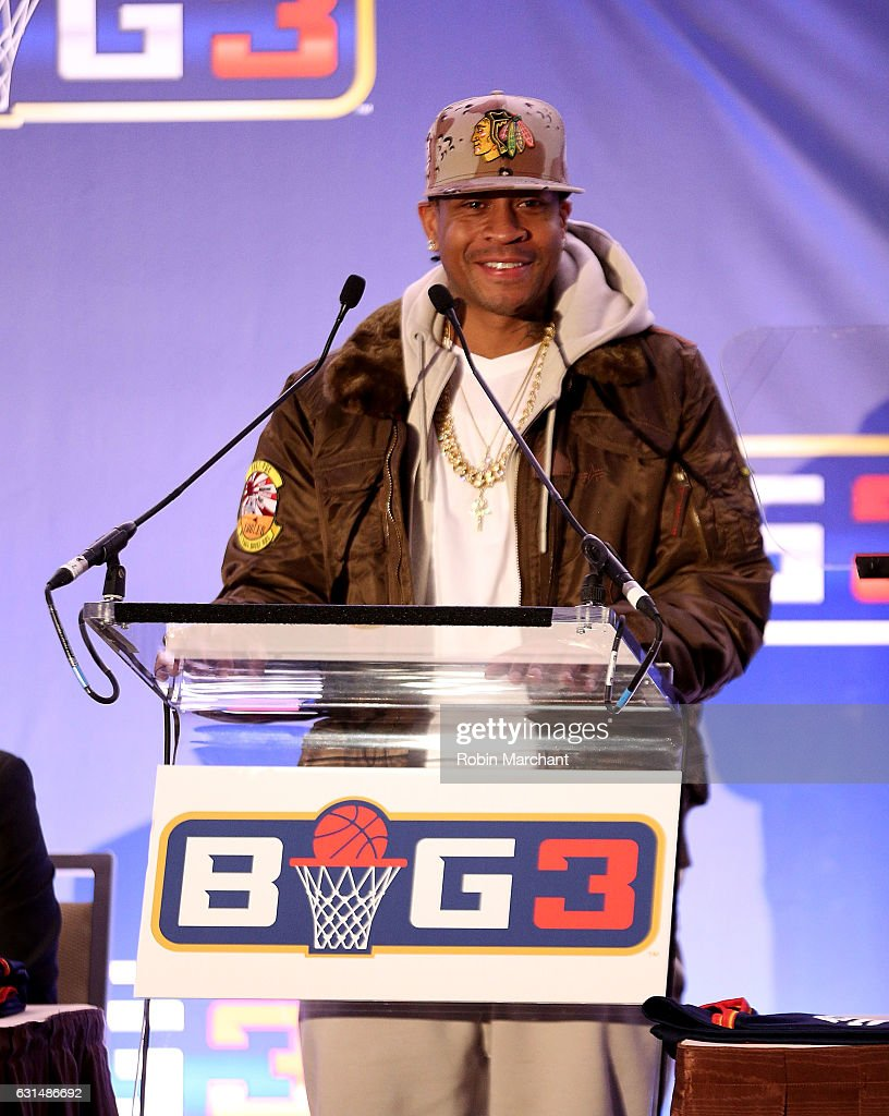 Allen Iverson attends BIG3 Press Conference on January 11, 2017 in New York City.
