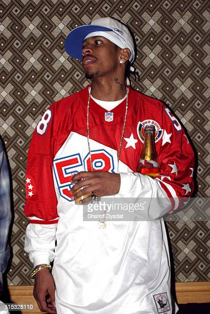 Allen Iverson during Allen Iverson Jermaine Dupri and Lil' Kim Party at Hyatt in Los Angeles California United States