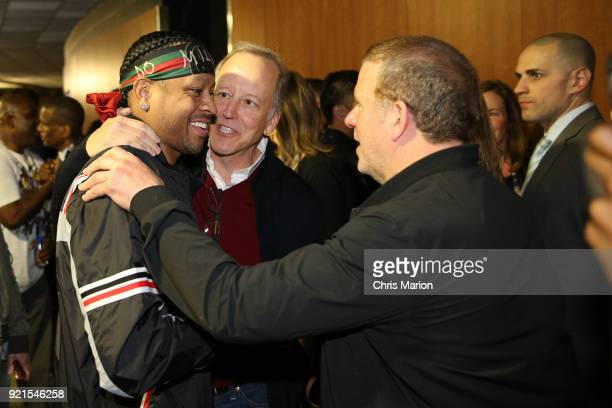 Allen Iverson is seen during the NBA AllStar Game as a part of 2018 NBA AllStar Weekend at STAPLES Center on February 18 2018 in Los Angeles...