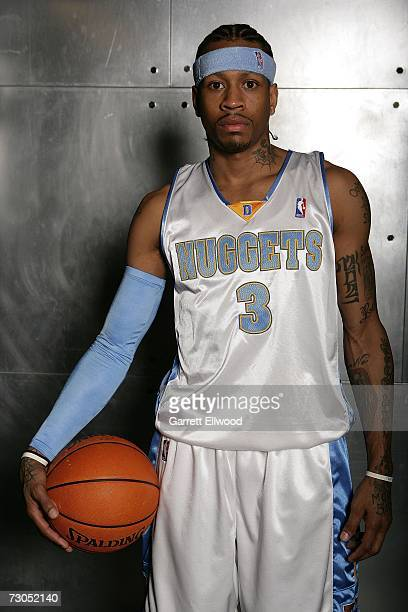 Allen Iverson of the Denver Nuggets poses for a portrait on January 19 2007 at the Pepsi Center in Denver Colorado NOTE TO USER User expressly...