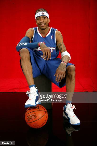 Allen Iverson of the Eastern Conference AllStars poses for a portrait prior to the 2005 NBA AllStar Game on February 20 2005 at the Pepsi Center in...