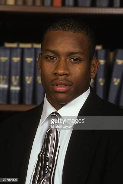 Allen Iverson of the Georgetown Hoyas poses for head shot on January 10 1995 in Landover Md