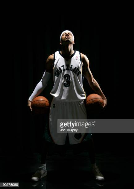Allen Iverson of the Memphis Grizzlies poses for a photograph during a photoshoot after a press conference announcing his signing with the Grizzlies...