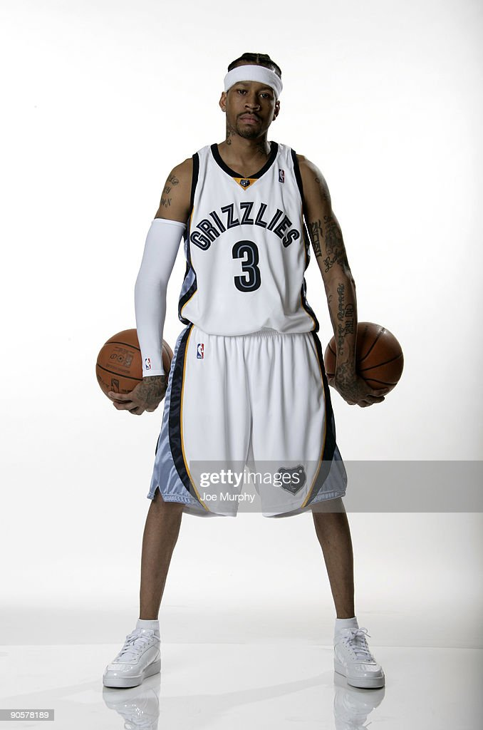 half off 54649 2038a Allen Iverson of the Memphis Grizzlies poses for a ...