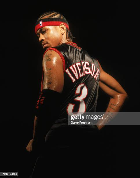Allen Iverson of the Philadelphia 76ers poses for a portrait during NBA Media Day at the 76ers Practice Facility circa October of 2004 in...