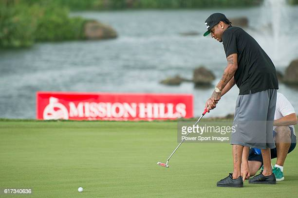 Allen Iverson plays during the World Celebrity ProAm 2016 Mission Hills China Golf Tournament on 23 October 2016 in Haikou Hainan province China