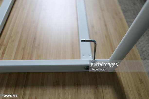 allen key in flat pack furniture - hot desking stock pictures, royalty-free photos & images