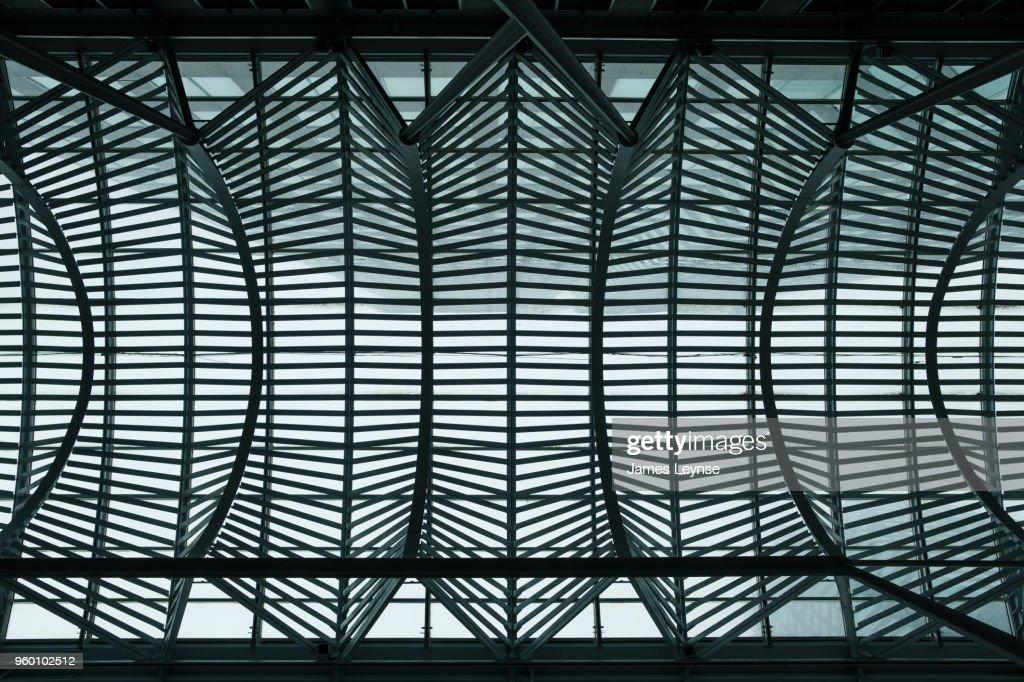 Allen Lambert Galleria, designed by the architect Santiago Calatrava at Brookfield Place in Toronto : Stock-Foto