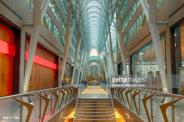 Allen Lambert Galleria sometimes described as the crystal cathedral of commerce is an atrium designed by Spanish architect Santiago Calatrava which...