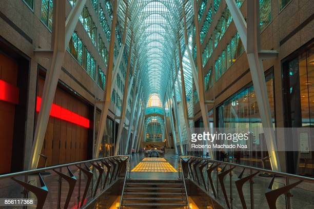 """Allen Lambert Galleria, sometimes described as the """"crystal cathedral of commerce"""", is an atrium designed by Spanish architect Santiago Calatrava..."""