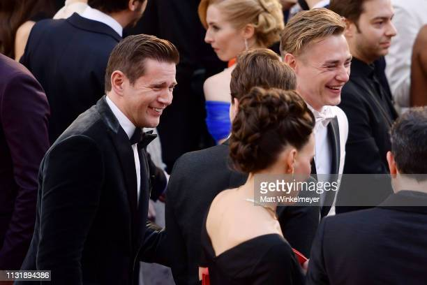 Allen Leech and Ben Hardy attend the 91st Annual Academy Awards at Hollywood and Highland on February 24 2019 in Hollywood California