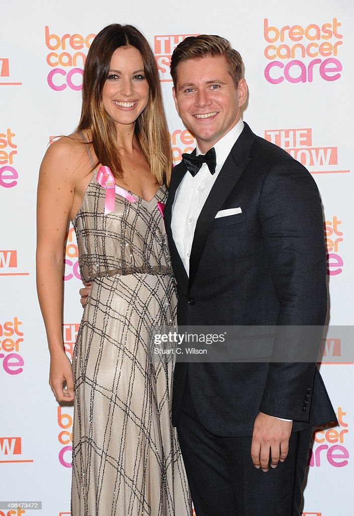 Allen Leech and Charlie Webster arrive for the Breast Cancer Care's London Fashion Show 2014 at The Grosvenor House Hotel on October 1, 2014 in London, England.