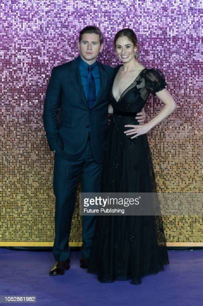 Allen Leech and Charlie Webster attend the World Premiere of 'Bohemian Rhapsody' at the SSE Arena Wembley in London October 23 2018 in London United...
