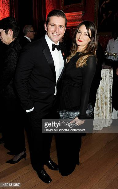 Allen Leech and Doone Forsyth attend the Winter Whites Gala in aid of Centrepoint at Kensington Palace on November 26 2013 in London England