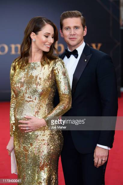 "Allen Leech and Jessica Blair Herman attends the ""Downton Abbey"" World Premiere at Cineworld Leicester Square on September 09, 2019 in London,..."