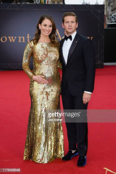 Allen Leech and Jessica Blair Herman attends the Downton Abbey World Premiere at Cineworld Leicester Square on September 09 2019 in London England