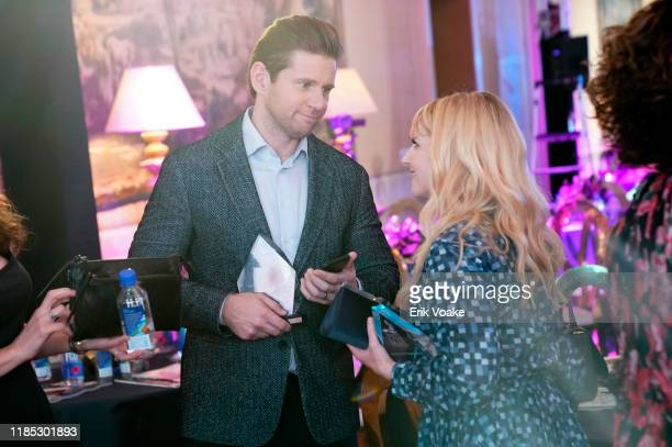 Allen Leech and Melissa Rauch attend FIJI Water at Newport Beach Film Festival Fall Honors and Variety's 10 Actors to watch on November 03 2019 in...