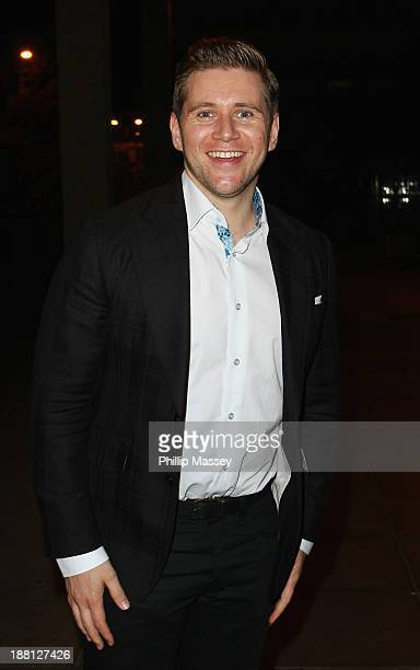 Allen Leech appears on the Late Late Show at RTE Studios on November 15 2013 in Dublin Ireland