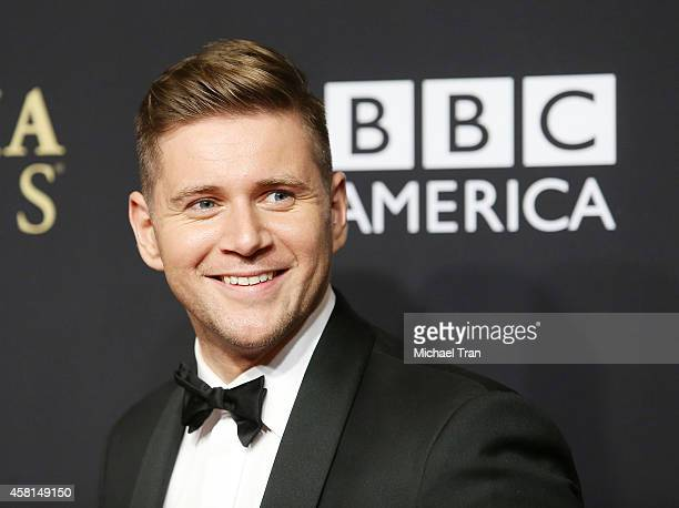 Allen Leech arrives at the BAFTA Los Angeles Jaguar Britannia Awards held at The Beverly Hilton Hotel on October 30 2014 in Beverly Hills California
