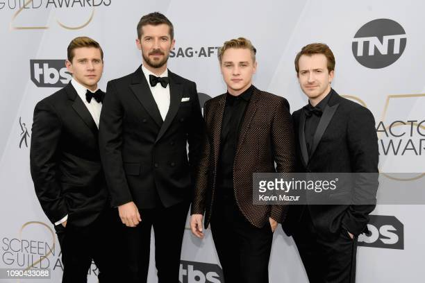 Allen Leech Gwilym Lee Ben Hardy and Joe Mazzello attend the 25th Annual Screen ActorsGuild Awards at The Shrine Auditorium on January 27 2019 in...