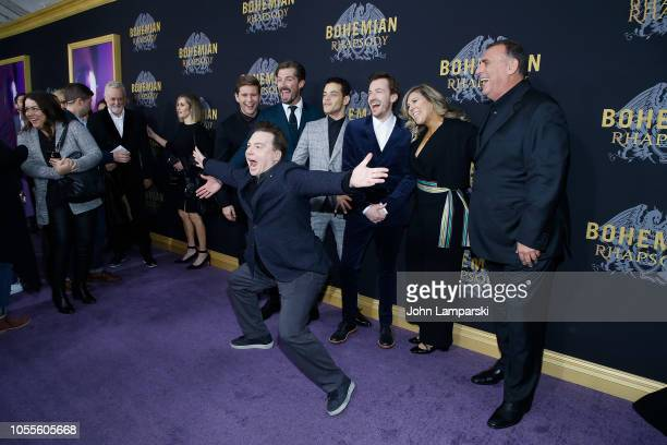 Allen Leech Gwilym Lee Rami Malek Joe Mazzello Graham King and Mike Myers attend Bohemian Rhapsody New York premiere at The Paris Theatre on October...