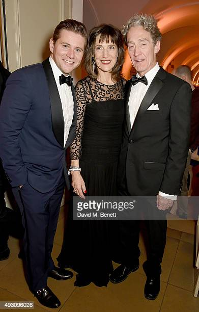 Allen Leech Harriet Walter and Guy Paul attend the BFI London Film Festival Awards at Banqueting House on October 17 2015 in London England