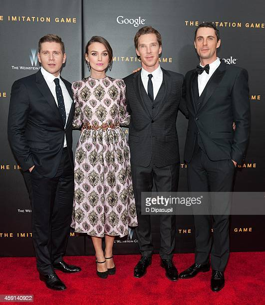 Allen Leech Keira Knightley Benedict Cumberbatch and Matthew Goode attend 'The Imitation Game' New York Premiere at the Ziegfeld Theater on November...