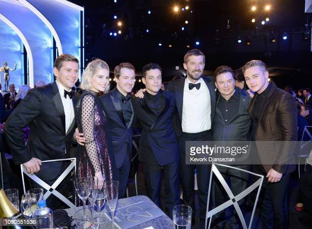 Allen Leech Lucy Boynton Joseph Mazzello Rami Malek Gwilym Lee Mike Myers and Ben Hardy attend the 25th Annual Screen Actors Guild Awards at The...