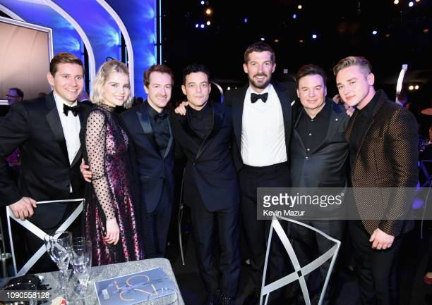 Allen Leech Lucy Boynton Joseph Mazzello Rami Malek Gwilym Lee Mike Myers and Ben Hardy attend the 25th Annual Screen ActorsGuild Awards at The...
