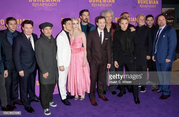 Allen Leech Mike Myers Tom Hollander Rami Malek Lucy Boynton Gwilym Lee Joe Mazzello Brian May Ben Hardy Roger Taylor and guests attend the World...