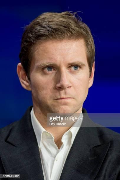 Allen Leech of 'Downton Abbey' rings the Nasdaq Stock Market Closing Bell at NASDAQ on November 17 2017 in New York City